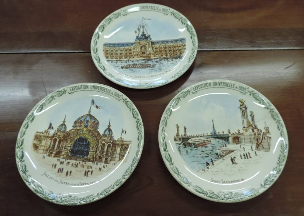 Assiettes décoratives « Exposition universelle de 1900″ | Brocanta
