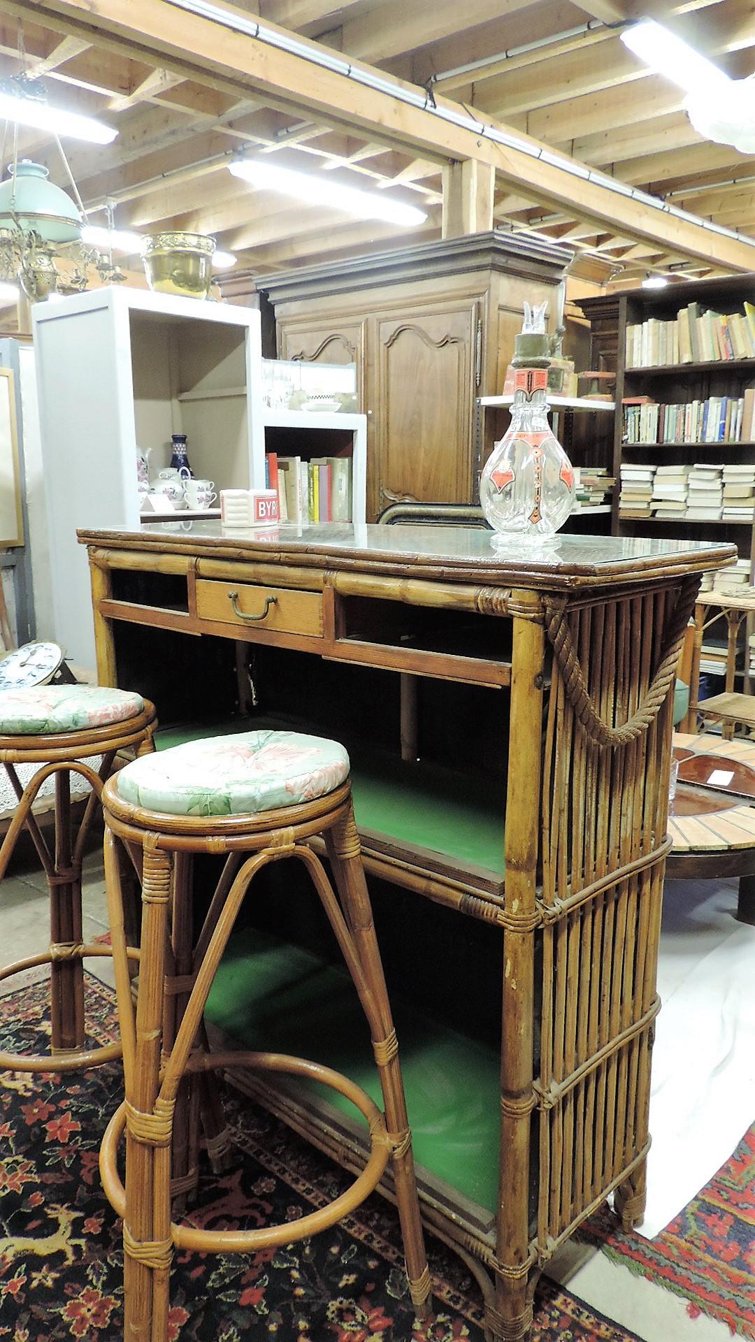bar en bambou 1960 brocanta. Black Bedroom Furniture Sets. Home Design Ideas